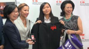 华策会欢送纽约华裔女生开启北极远征之旅