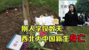 西北大学中国留学生车祸身亡 同学前往事发现场悼念