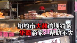 纽约市大赦逾期罚金 华裔商家:帮助不大