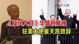崔天凯大使出席纪录片《旋风九日》展映活动并致辞