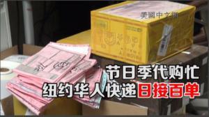 节日季纽约华人快递日接百单  业内:中国海关新政对个人包裹影响小