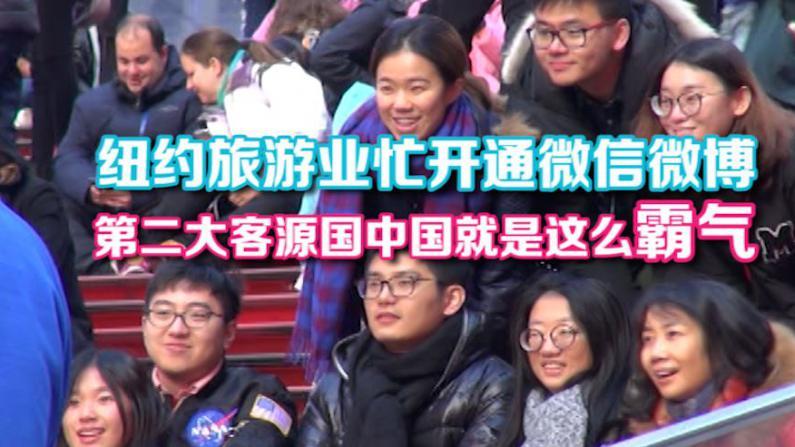 中国跃居纽约第二大旅游客源国