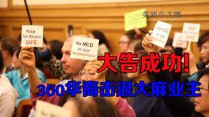 """威武!300华裔涌入旧金山市府抗议 """"喝退""""大麻业主"""