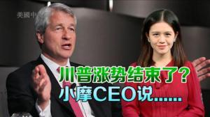 小摩CEO料川普政策将刺激股市 靓丽银行财报难挡股价跌势