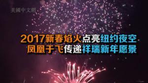 2017新春焰火点亮纽约夜空 凤凰于飞传递祥瑞新年愿景