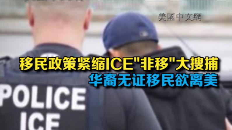 """移民政策紧缩ICE""""非移""""大搜捕 华裔无证移民欲离美"""