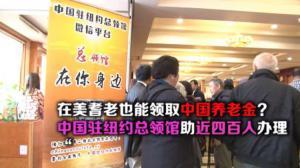 中国驻纽约总领馆助近四百人办理中国退休金手续