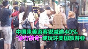 中国来美游客降幅与遭禁国家持平 川普旅行禁令或玩坏美国旅游业