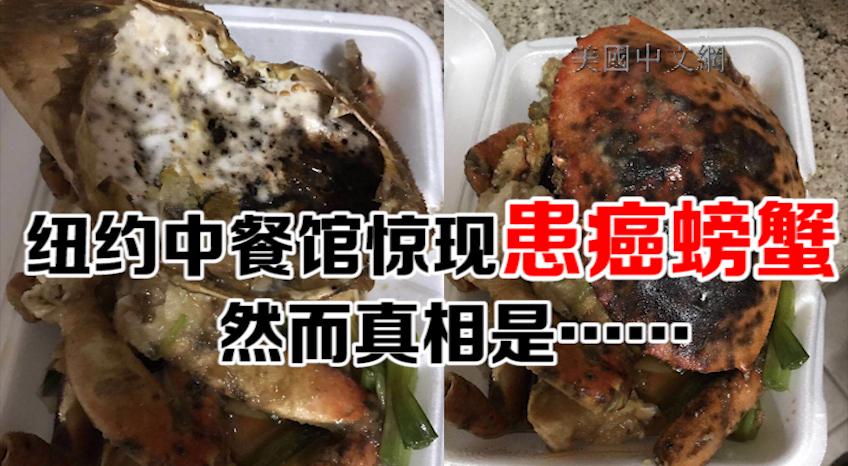 纽约中餐馆惊现患癌螃蟹 然而真相是……