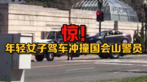 华盛顿特区女子开车冲撞国会山警员被捕