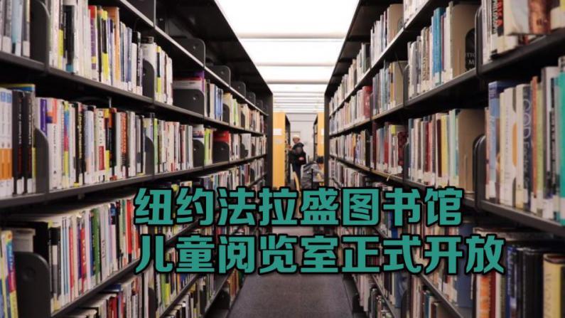 纽约法拉盛图书馆儿童阅览室开放
