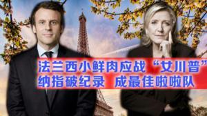 法国大选第一轮结果如预期  纳指破纪录银行股大涨