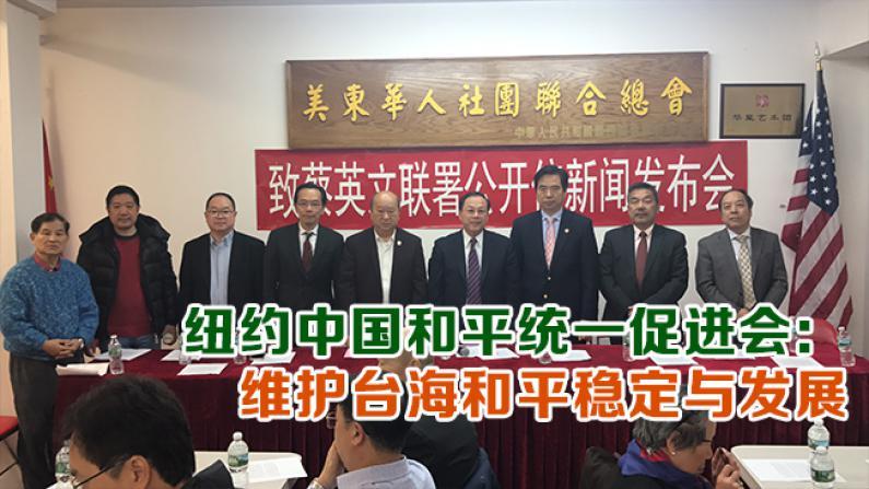纽约中国和平统一促进会: 维护台海和平稳定与发展