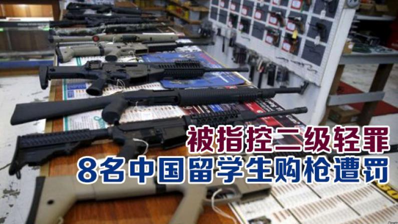 被指控二级轻罪 8名中国留学生购枪遭罚