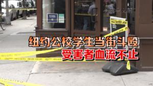 纽约曼哈顿公校学生斗殴三人被捅伤 嫌犯仍在逃