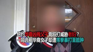 纽约华裔老妇遇凶残父子 遭挥拳暴打持刀威胁