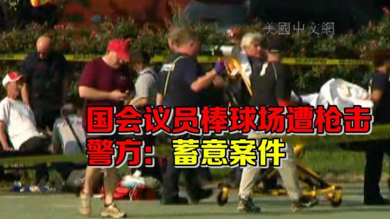 国会议员棒球场遭枪击 警方:蓄意案件