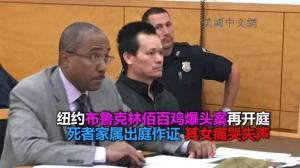纽约布鲁克林佰百鸡枪击爆头案再开庭 死者家人出庭作证 其女痛哭失声