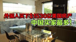 外国人美国买房高温不退 中国买家高居榜首