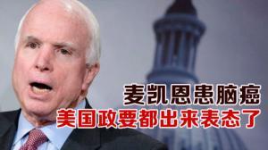 麦凯恩患脑癌  美国政要都出来表态了