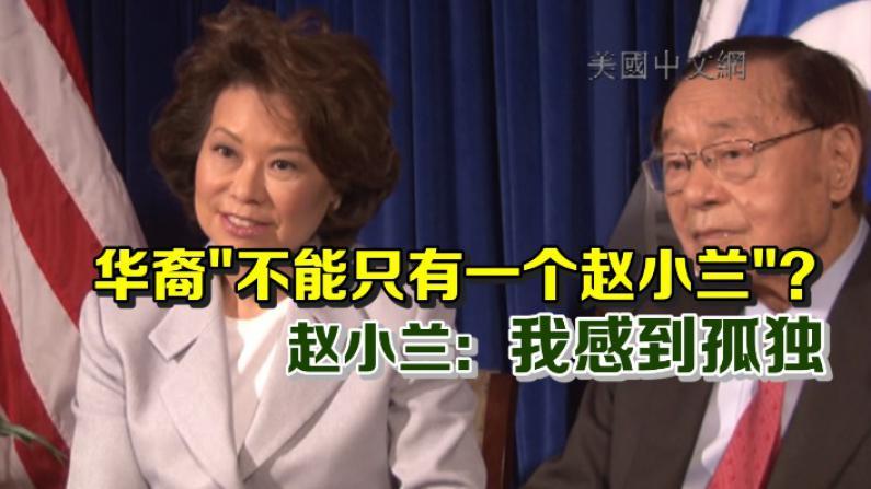 """赵小兰谈美国主流华裔领袖:""""领导力""""不会无缘无故被""""赐予"""""""