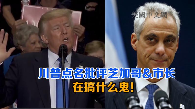 川普再次点名批评芝加哥&市长:你们到底怎么了!