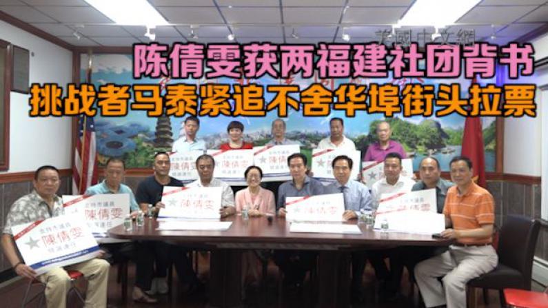 陈倩雯获两福建社团背书 挑战者马泰紧追不舍华埠街头拉票