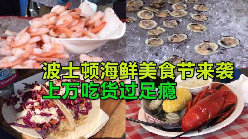 波士顿海鲜美食来袭 上万吃货过足瘾