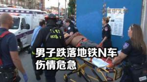 纽约布鲁克林8大道男子坠轨 伤情严重