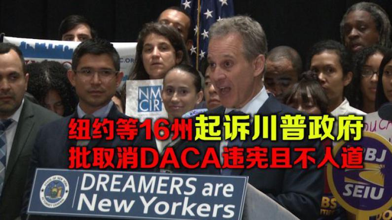纽约等16州起诉川普政府 批取消DACA违宪且不人道