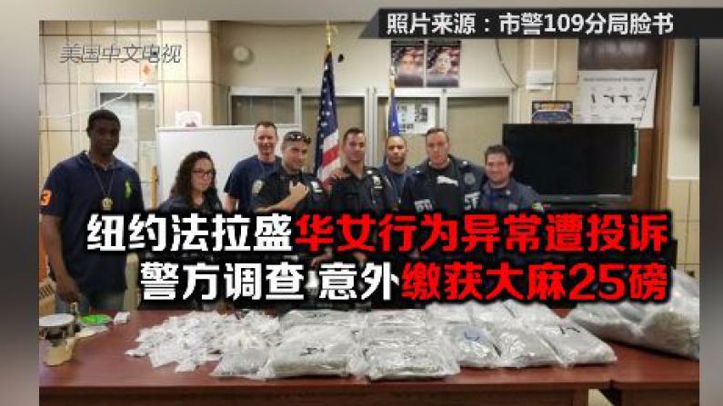 纽约法拉盛华女行为异常遭投诉  警方上门调查 意外缴获大麻25磅