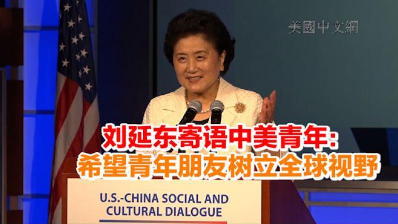 刘延东寄语中美青年: 希望青年朋友树立全球视野