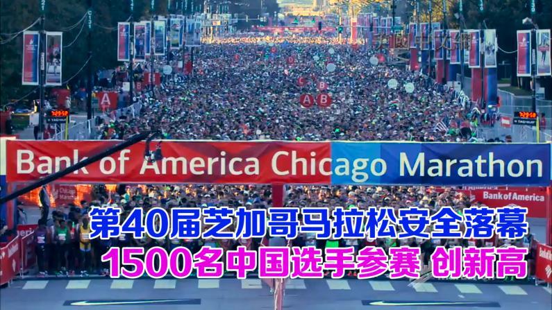 第40届芝加哥马拉松安全落幕 1500名中国选手参赛 创新高