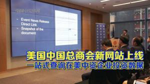 美国中国总商会新网站上线  一站式查询在美中资企业投资数据