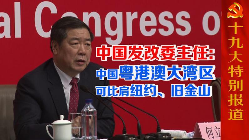 中国发改委主任:中国粤港澳大湾区可比肩纽约、旧金山
