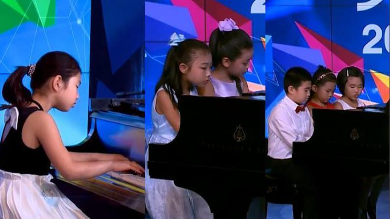 """""""天生我才""""初赛第八集:独奏,四手联弹,六手联弹,钢琴演奏大比拼"""