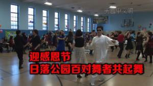 纽约日落公园华社办舞会  百对舞者共起舞迎感恩节
