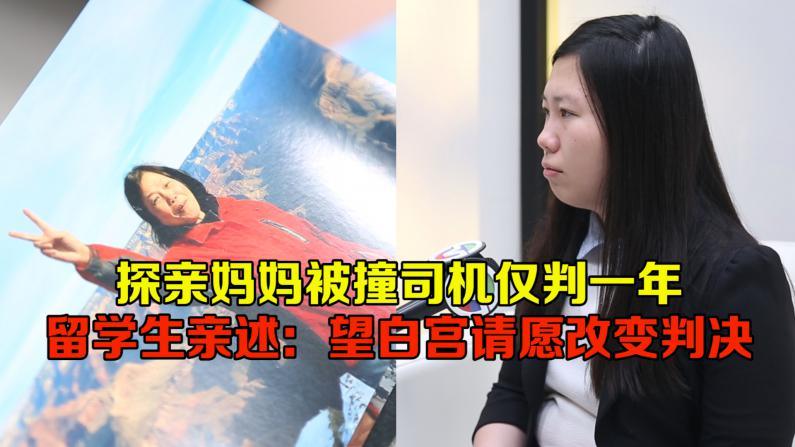 中国留学生亲述母亲被撞案 望白宫请愿改变不公判决