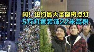 纽约最大圣诞树洛克菲勒点灯