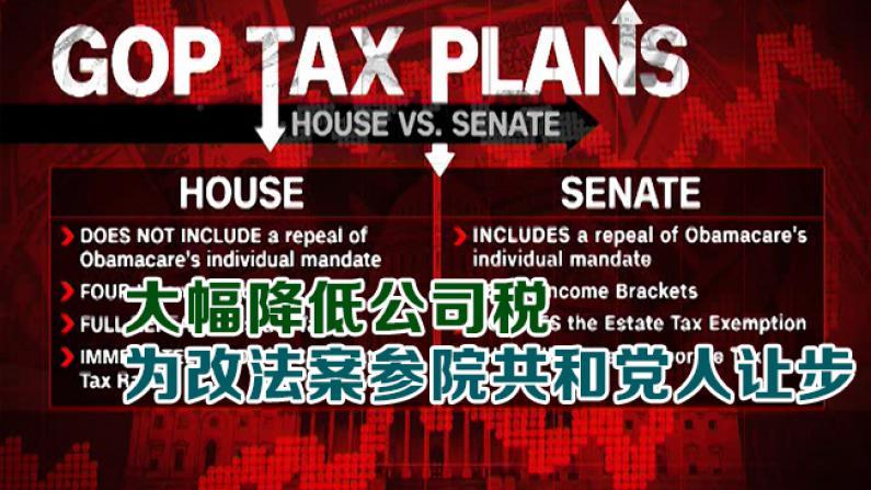 大幅降低公司税 为改法案参院共和党人让步