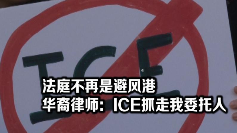 ICE持续踏足法庭抓人  纽约百余律师集结抗议
