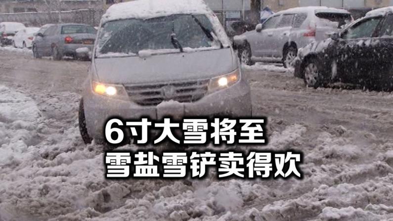 入冬初雪将至纽约  商家积极备货除雪用具