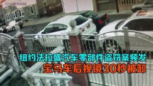 纽约法拉盛汽车零部件盗窃案频发 宝马车后视镜30秒被卸