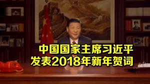 中国国家主席习近平发表二〇一八年新年贺词