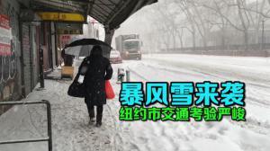 暴风雪来袭  纽约市交通接受严峻考验