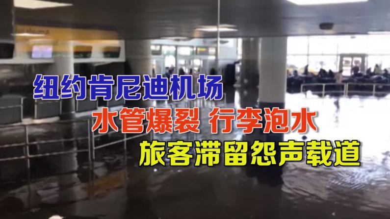 纽约肯尼迪机场水管爆裂行李泡水 旅客滞留怨声载道
