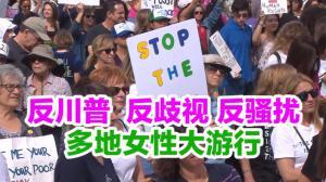 反川普  反歧视 反骚扰 多地女性大游行