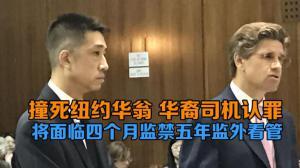 撞死纽约华翁 华裔司机认罪 将面临四个月监禁五年监外看管