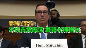 美财长努钦:不惧市场震荡 着眼长期增长