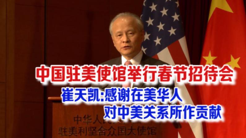 中国驻美使馆举行新春招待会 崔天凯:感谢在美华人对中美关系所作贡献